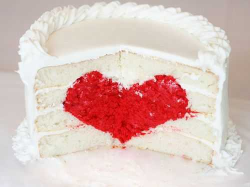Cake with Heart in the middle
