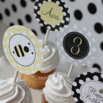 Bumble Bee Printable Party Circles 7