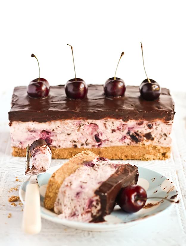 Chocolate Chip Cherry Cheesecake 5
