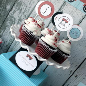 Fire Truck Printable Party Circles 2