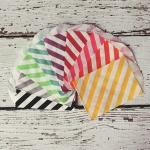 diagonal stripe paper bags mini