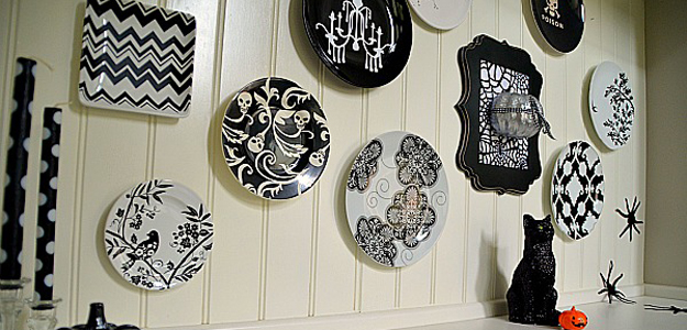 Black and White Plates on Wall 1