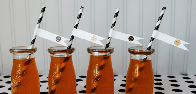 Jackolantern Printable Straw Flags 4