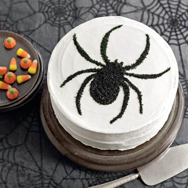 {Sweet Treat Tuesday} Black and White Spider Cake :: Countdown to Halloween!   The Tiny Tiara